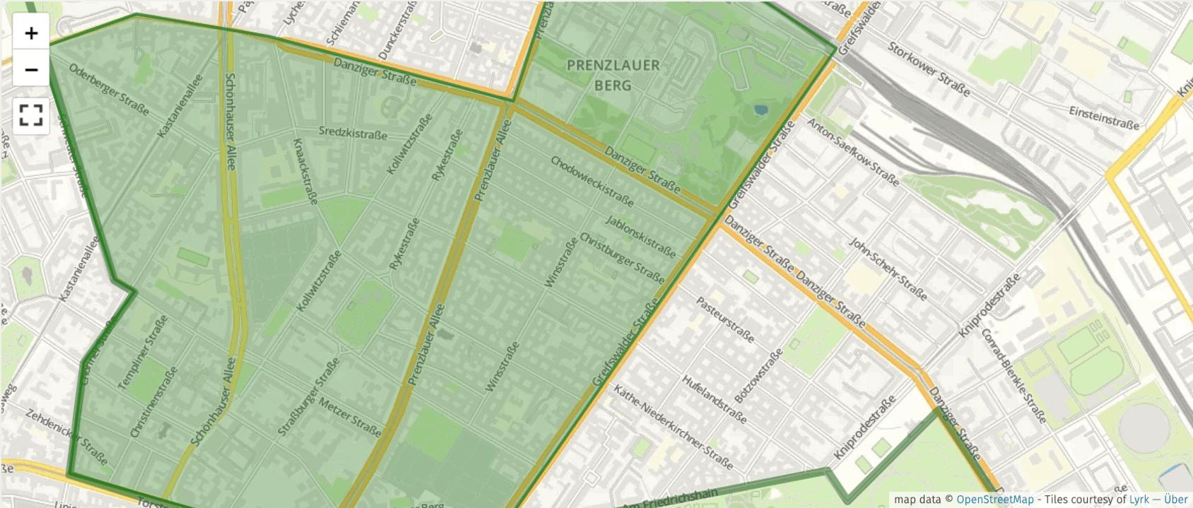 Platzhalter für eine Karte von Wahlkreis 8 in Pankow